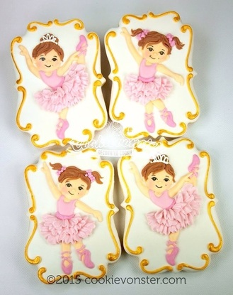 Kayla in a Tutu for her Tutu Party for her 2nd birthday.  Ballerina Cookies for a Ballerina Party